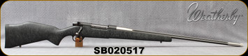 """Consign - Weatherby - 30-378WbyMag - Mark V Accumark - Black w/Grey Web Synthetic Stock/Stainless, 26""""Fluted, Threaded Barrel, c/w accubrake - In original box, less than 250 rounds fired"""