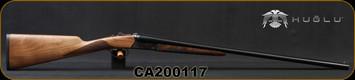 "Huglu - 20Ga/3""/28"" - Model 200A - SxS Single Trigger - Grade II English Grip Turkish Walnut/Hand-Engraved Case Hardened Receiver/Chrome-Lined Barrels, 5pc. Mobile Choke, Sku: 8681715398242-2, S/N CA200117"