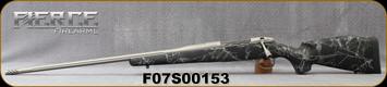 "Fierce - 6.5PRC - Edge - LH - Black w/Grey Web/carbon fiber stock/Titanium Grey Cerakote, Fluted 24""Threaded Barrel(26""w/Titanium Muzzle Brake)adjustable match grade trigger, S/N F07S00153"