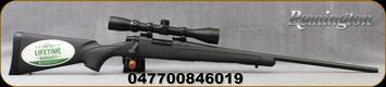 "Remington - 22-250Rem - 700 ADL Package - Bolt Action Rifle - Black Synthetic Stock/Blued,24""Barrel, 4 Round Internal Blind Box Magazine, 3-9x40mm Scope, Duplex Reticle, Mfg# 84601"