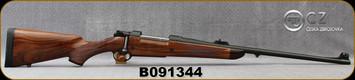 """Consign - CZ - AHR - 375H&H - Model 550 Magnum - Grade AAA Walnut/Blued, 23"""" 10-twist McGowen Bbl - only 50rds fired, c/w Spare AHR fiberglass stock, AHR Safety & Trigger, Oberndorf Bolt, Leupold VX-6 1-6x24mm, Duplex ret, mounts - Only range fired"""