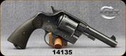 "Consign - Colt - 38WCF - 38-40 - New Service - Black checkered Colt Grips/Blued, 4.5""Barrel"