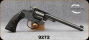 "Consign - Colt - 22 - Police Positive Target - 6-shot revolver - Black Checkered Colt Grips/Blued, 6""Barrel, Manufactured in 1907 - c/w Factory Letter from Colt"