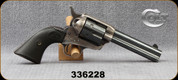 "Consign - Colt - 44-40 - Single Action Army - Black Grips/Blued, 4.75""Barrel - Was rebarreled - reads 44Spec, but is 44-40 - 1917 Manufacturing Date - c/w Letter from Colt"