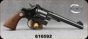 """Consign - Colt - 38Spl - Officers Model Match - Wood Grips/Blued, 6""""Barrel, 1937 Production, Custom Target Sights"""