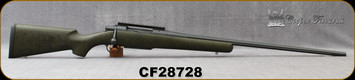 """Consign - Cooper - 7mmSTW - Model 52 Excaliber - Olive w/Black web synthetic stock/Stainless Action & Barrel w/Grey Cerakote Finish, 26""""Fluted Barrel, 20MOA Rail, Less than 120 rounds"""