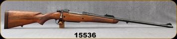 "Consign - BRNO - 375H&H - Model ZKK-602 - Refurbished Walnut Stock/Blued Heym Custom, 24""Barrel w/iron sights - Less than 100 rounds fired"