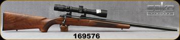 """Consign - Sako - 222Rem - Model A1 - Walnut Stock/Blued, 23.6""""Heavy Barrel, c/w Leupold VX-R Patrol, 3-9x40mm Mil. Illuminated reticle"""