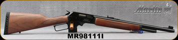"""Marlin - 45-70Govt - 1895G - Lever Action - American Black Walnut w/Checkered-Cut Straight Grip/Blued, 18.5"""", Mar-Shield Finish, , Ventilated Recoil Pad And Swivel Studs, MFG# 70462, S/N MR98111I"""