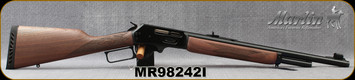 """Marlin - 45-70Govt - 1895G - Lever Action - American Black Walnut w/Checkered-Cut Straight Grip/Blued, 18.5"""", Mar-Shield Finish, , Ventilated Recoil Pad And Swivel Studs, MFG# 70462, S/N MR98242I"""