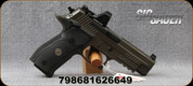 "Sig Sauer - 9mm - P226 Legion RXP - SA Semi-Auto - Custom High Checkered G-10 Grips/Legion Gray PVD Finish, 4.4""Barrel, ROMEO1 Slide-Mounted Reflex Optic, (3)Magazines, Mfg# E26R-9-LEGION-SAO-RXP"