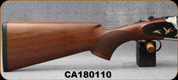 "Huglu - 12Ga/3""/28"" - 103F - O/U, Turkish Walnut/Black & Silver Reciever w/gold inlay birds/Chrome-Lined Barrel, single trigger, 5pc. Mobile Choke, SKU# 8681715390413, S/N CA180110"