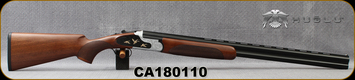 "Huglu - 12Ga/3""/28"" - 103F - O/U, Turkish Walnut/Black & Silver Receiver w/gold inlay birds/Chrome-Lined Barrel, single trigger, 5pc. Mobile Choke, SKU# 8681715390413, S/N CA180110"