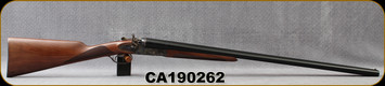 "Huglu - 12Ga/3""/30"" - 201HRZ - SxS Double Trigger - Turkish Walnut English Stock/Case Hardened/Chrome-Lined Barrels, 5pc. Mobile Chokes, SKU# 8681744308939, S/N CA190262"