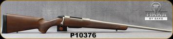 "Tikka - 308Win - Model T3x Hunter Stainless - Walnut Stock/Stainless, 22.4""Barrel, 3 round detachable magazine, Mfg# TFTT2936103, S/N P10376"