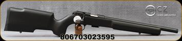 "CZ - 22LR - Model 457 Pro Varmint - Rimfire Bolt Action Rifle - Black Textured Painted Boyds Laminate Stock/Nitride Finish, 16.5""Threaded(1/2×28) Barrel, 5 Round Capacity Detachable Magazine, Mfg# 02359"