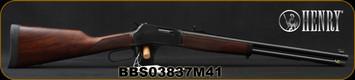 "Henry - 41Magnum - Big Boy Steel - Standard Lever Action Rifle - American Walnut Stock/Steel Receiver/Blued Barrel, 20""Round Barrel, 10 Round Capacity, Mfg# H012M41, S/N BBS03837M41"