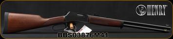 "Henry - 41Magnum - Big Boy Steel - Standard Lever Action Rifle - American Walnut Stock/Steel Receiver/Blued Barrel, 20""Round Barrel, 10 Round Capacity, Mfg# H012M41, S/N BBS03876M41"