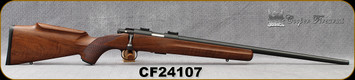 "Used - Cooper - 22LR - Model 57M Jackson Squirrel - AAA Claro Walnut stock w/roll over cheek piece & semi-beavertail forearm/Matte Blued, 22""Barrel, Detachable 5rd magazine, Fully adjustable, single stage trigger - In original box"