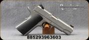 "Remington - 45Auto - R1-S Enhanced Commander - Black Laminate Grips/Stainless, 4.25""Barrel, (2)8rd Mags, Adjustable skeletonized trigger, Mfg# 96360"