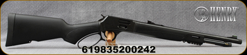 "Henry - 45Colt - Big Boy X Model - Lever Action Rifle - Matte Black Synthetic Stock/Blued, 17.4""Threaded Barrel, 7 Round Tubular Magazine, Fiber Optic Sights< Mfg# H012CX"