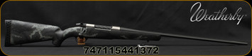 "Weatherby - 6.5x300WbyMag - Mark V Backcountry Ti - Carbon Fiber Stock Black/Grey Sponge Accent/Titanium Receiver/Graphite Black Cerakote, 26""Fluted Barrel(28""w/Accubrake Intalled, 3 Round Capacity, Accubrake ST, Mfg# MBT01N653WR8B"
