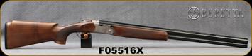 "Beretta - 12Ga/3""/28"" - Silver Pigeon I Vittoria Field - Walnut Stock/Engraved Nickle Finish Receiver/Steelium Optima HP Barrels, Vent Rib, Mfg# 3W46PL22AA311, S/N F05516X"