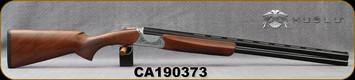 "Huglu - 12Ga/3""/28"" - Ventus GR1 - O/U - Turkish Walnut/Silver Hand Engraved Low Profile Receiver/Chrome-Lined Barrels, Ejectors, SKU# 8681715396309, S/N CA190373"