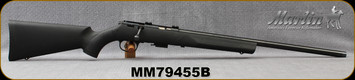 "Consign - Marlin - 17HMR - XT-17 - Black Synthetic/Blued, 22"" heavy barrel, scope base blocks, 4rd detachable mag - Mfg# 70721 - In Remington Box"