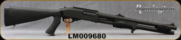 "Remington - 12Ga/3""/18"" - Law Enforcement Model 870 Breacher Pistol Grip - Pump Action - Black Synthetic Stock/Parkerized Finish, 6rd capacity, Rifle Sights, IC(Rem-Choke), Mfg# 24979, S/N LM009680 - In Allen Brown/Orange soft case"