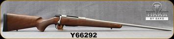 "Tikka - 300Win - Model T3x Hunter Stainless - Walnut Stock/Stainless, 24.3""Barrel, 3 round detachable magazine, Mfg# TFTT3336103, S/N Y66292"