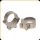 """Warne - 7.3/.22 Series Steel Rings - Permanently Attached - 1"""" - Medium - Silver - 721S"""