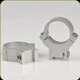 """Warne - 7.3/.22 Series Steel Rings - Permanently Attached - 1"""" - High - Silver - 722S"""