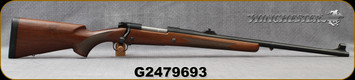 "Consign - Winchester - 375H&H - Model 70 Classic Safari Express -  Bolt Action Rifle - Walnut Stock/Blued, 24""Barrel, last batch mfg Hartford, only 9 shots fired - In original box"