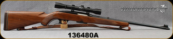 """Consign - Winchester - 308Win - Model 88 - Lever Action - Walnut Stock/Blued, 22""""Barrel, c/w Original Perma Center, Perma Center 4x scope, Crosshairs Reticle, leather sling - One Owner, last used in fall of 1965"""