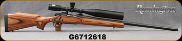 """Consign - Remington - 308Win - Model 700 Laminate Varmint - Brown Laminate Stock/Blued, 26""""Barrel, c/w Bushnell 5-15x40mm (sighted in @200yds), Mil-Dot Reticle, Kick-EEZ aftermarket recoil pad - Only 100rds fired - In black hard plastic case"""