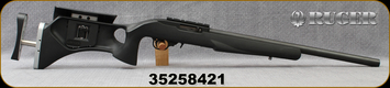 """Consign - Ruger - 22LR - 10/22 - Black Synthetic Fajen Fully Adjustable Stock/Blued, 20""""Hammer Forged Heavy Bull Barrel, only 50 rounds fired"""