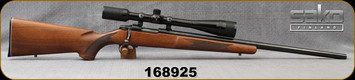 "Used - Sako - 223Rem - Model AI - Walnut Stock/Blued, 23.7""Heavy Barrel - Was 222, but rechambered to 223, c/w Bausch & Lomb, 6-24x40mm, plex reticle"