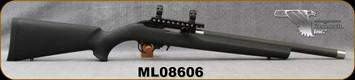 "Used - Magnum Research - 22LR - Model Magnum Lite MLR-1722 - Black Polymer Stock/Carbon Fiber, 17""Threaded Barrel, 2 Magazines, 1""Rings"