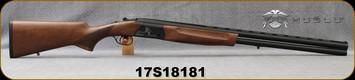 """Huglu - 12Ga/3""""/28"""" - Eagle G - O/U - Extractors - Turkish Walnut/Black Laser Engraved Receiver/Chrome Lined Barrels, 5pc. Mobile Choke, Red Fiber Optic Front Sight, Sku: 8681715390727, S/N 17S18181"""