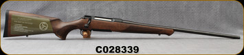 """Sauer - 6.5PRC - Model 100 Classic - Bolt Action Rifle - Dark-Stain Beechwood ERGO MAX Stock/Blued, 24""""Cold Hammer Forged Barrel, Adjustable single-stage trigger, 1:866""""Twist, Mfg# S1W65P, S/N C028339"""