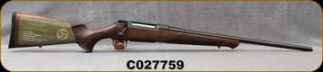 """Sauer - 6.5x55SE - Model 100 Classic - Bolt Action Rifle - Dark-Stain Beechwood ERGO MAX Stock/Blued, 22""""Cold Hammer Forged Barrel, Adjustable single-stage trigger, 1:866""""Twist, Mfg# S1W655, S/N C027759"""