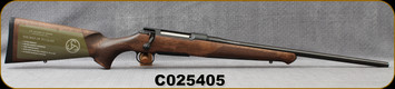 """Sauer - 9.3x62 - Model 100 Classic - Bolt Action Rifle - Dark-Stain Beechwood ERGO MAX Stock/Blued, 22""""Cold Hammer Forged Barrel, Adjustable single-stage trigger, 1:14.2""""Twist, Mfg# S1W936, S/N C025405"""