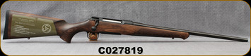 """Sauer - 9.3x62 - Model 100 Classic - Bolt Action Rifle - Dark-Stain Beechwood ERGO MAX Stock/Blued, 22""""Cold Hammer Forged Barrel, Adjustable single-stage trigger, 1:14.2""""Twist, Mfg# S1W936, S/N C027819"""