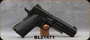 "Used - GSG -22LR - 1911 Black Tactical - Semi-Auto - Black Checkered Grips/Blued, 5""Barrel, 2 magazines - In original case"