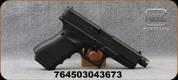 "Glock - 9mm - Model 19 Gen4 MOS - Semi-Auto Pistol - Black Modular Grip w/Interchangeable Backstrap/Blued, 4.5""Threaded Barrel, Optic Ready, (3) magazines, Mfg# UG1950201MOSTB"