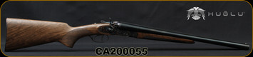 "Huglu - 12Ga/3""/20"" - 201HRZ - Hammer Gun - Grade II Standard Grip Turkish Walnut/Case Hardened Receiver/Chrome-Lined Barrels, Double Trigger, SKU# 8681715392202-2, S/N CA200055"