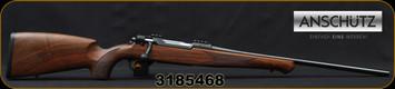 "Anschutz - 9.3x62 - Model 1782 German Stock - Bolt Action Rifle - Oiled Walnut Stock w/German fish scale checkering/Blued, 22.8""Barrel, Mfg# 100-1782GERMAN580, S/N 3185468"
