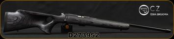 "CZ - 22LR - 455 Thumbhole Grey - Grey Laminate Thumbhole Stock/Blued, 20.67""Fluted Heavy Barrel, 5rd detachable magazine, Adjustable Trigger, Mfg# 5074-8021-KHBMEAX, S/N D273952"