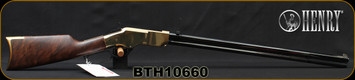 """Henry - 44-40WCF - New Original - Lever Action Rifle - Fancy American Walnut Stock/Polished Brass Receiver/Blued Stell, 24.5""""Octagonal Barrel, 13 Round Capacity, Mfg# H011, S/N BTH10660"""